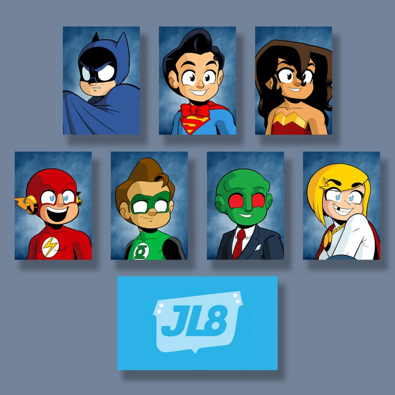 Image of *NEW* JL8 Yearbook Photos, Set of 7