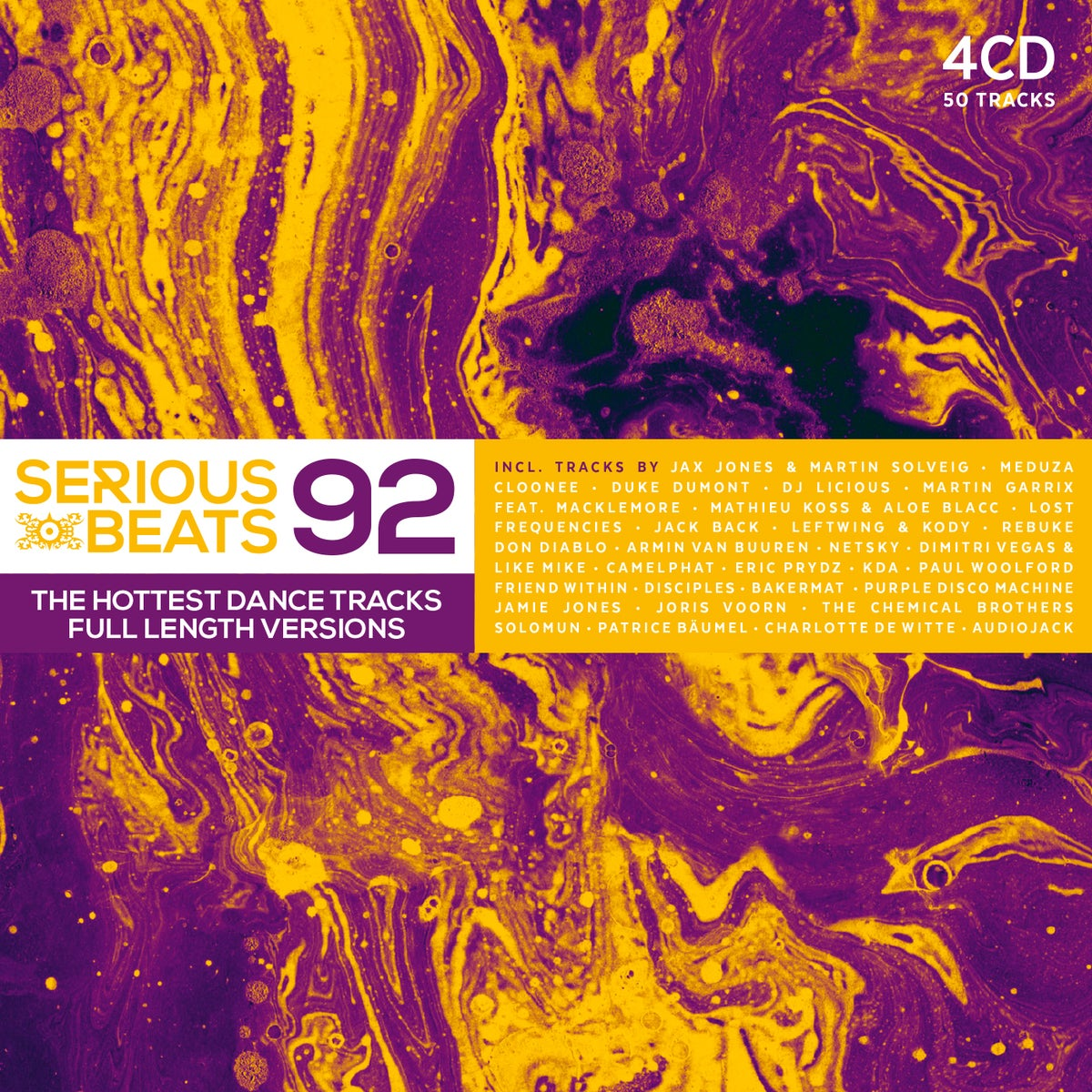 Image of PRE-ORDER: VARIOUS ARTISTS - SERIOUS BEATS 92 (4CD)