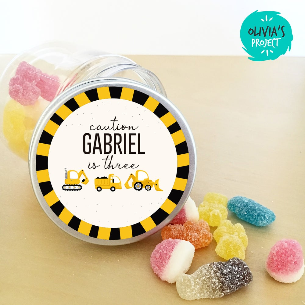 Image of Tarritos de chuches cumple - Dig Dig Digger