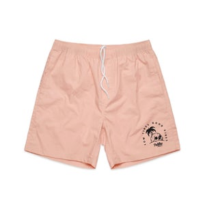 """Image of Beach Shorts Pink """"Low Tides Good Vibes"""""""