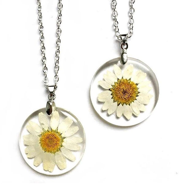 Image of Pressed Daisy Necklace