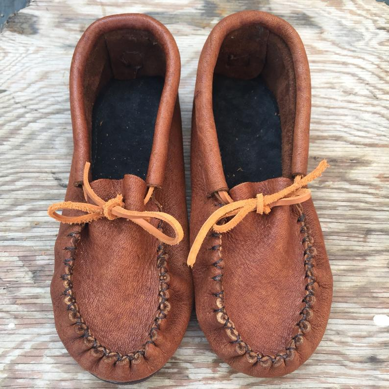 Image of Pucker Toe Moccasins (Cork)