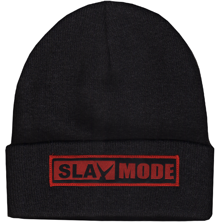 Image of Slay Mode Knit Cap (black heather)