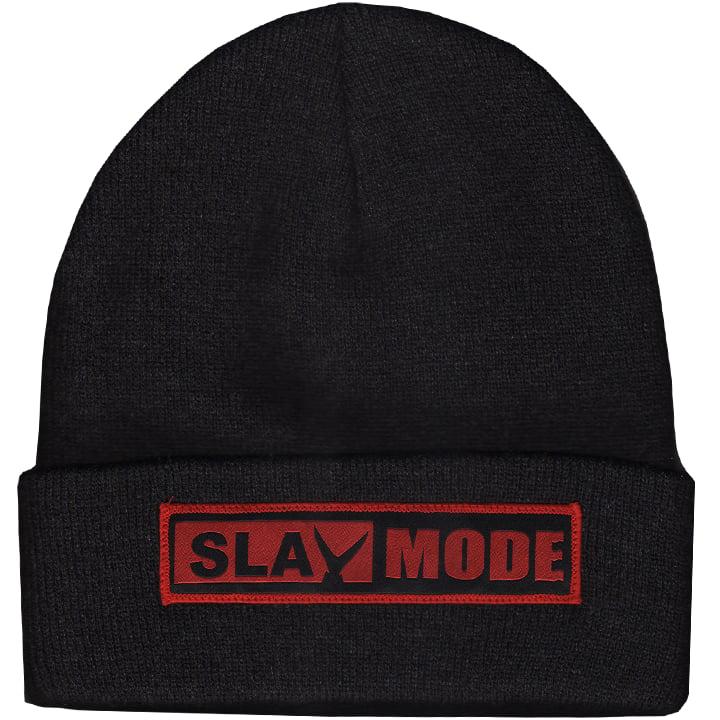 Image of Slay Mode Knit Cap (black heather)
