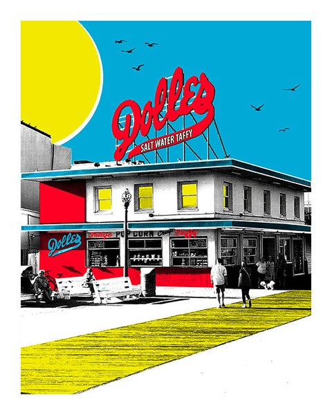 Image of Dolles Salt Water Taffy Shop Print