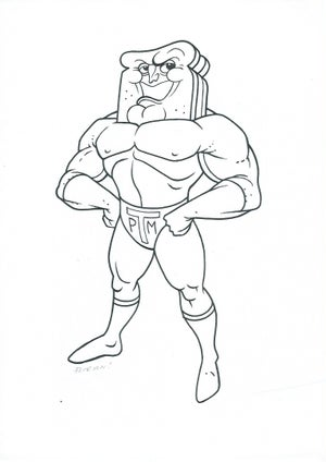 "Image of ""Powder Toast Man""  -  Original Art"