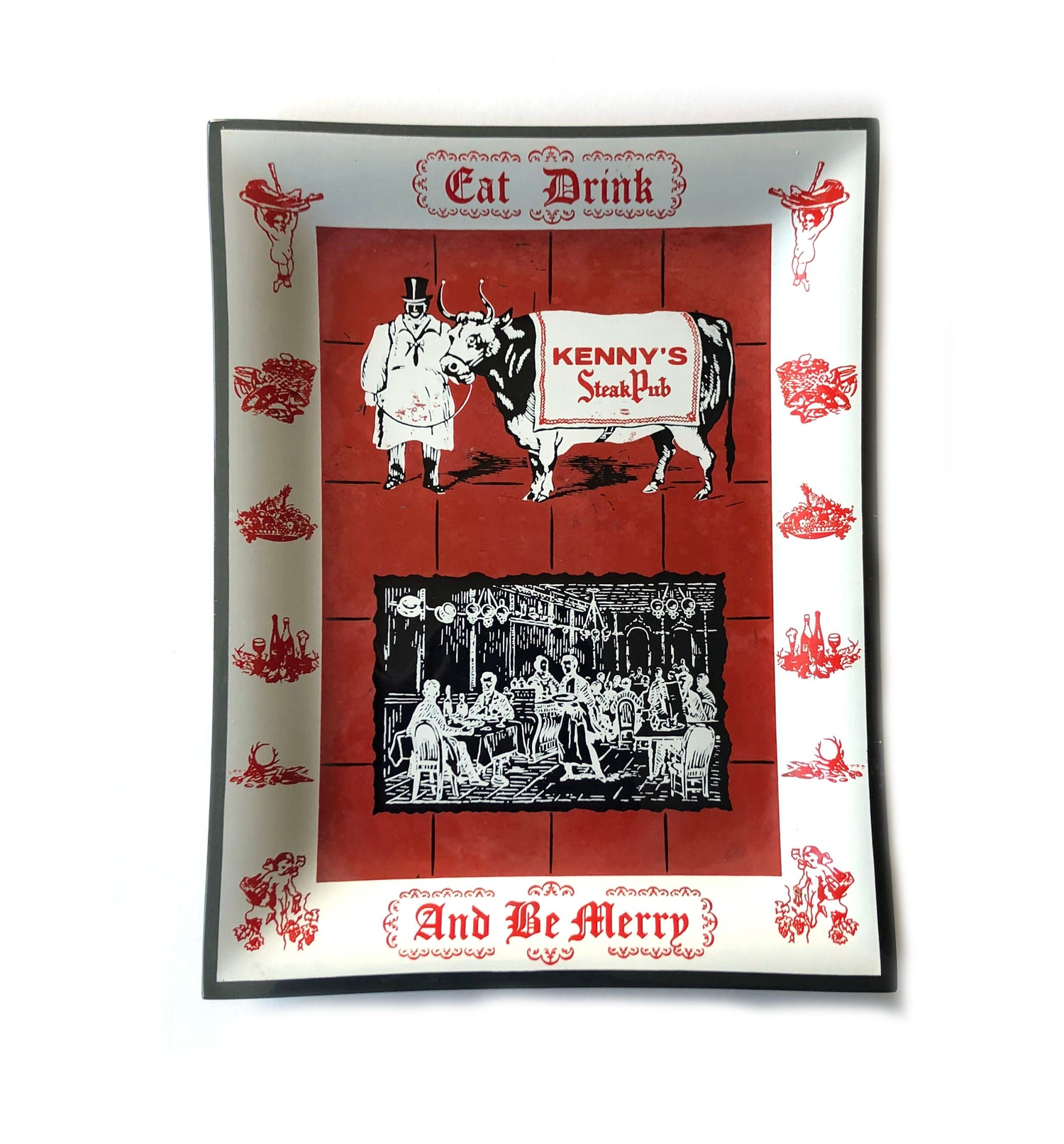 """Image of Kenny's Steak Pub """"Eat Drink And Be Merry"""" Tray"""