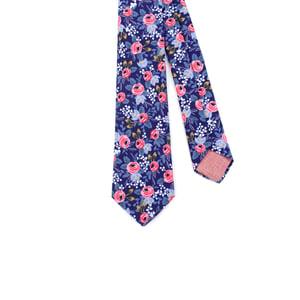 Image of Indigo Floral Necktie