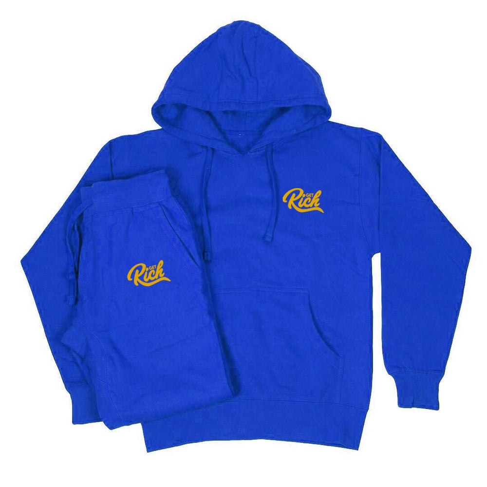 "Image of Get Rich Sweatsuit - ""Crenshaw / Nipsey Blue & Gold"""