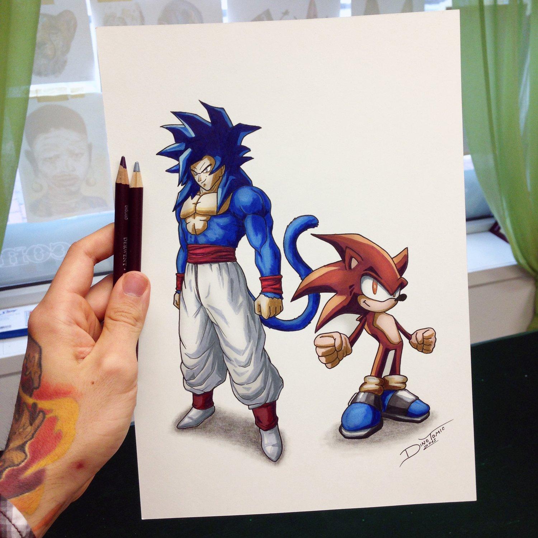 Image of #125 Vegeta & Sonic