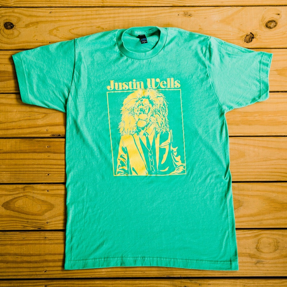 Image of Justin Wells Lion Shirt (Mint Green)