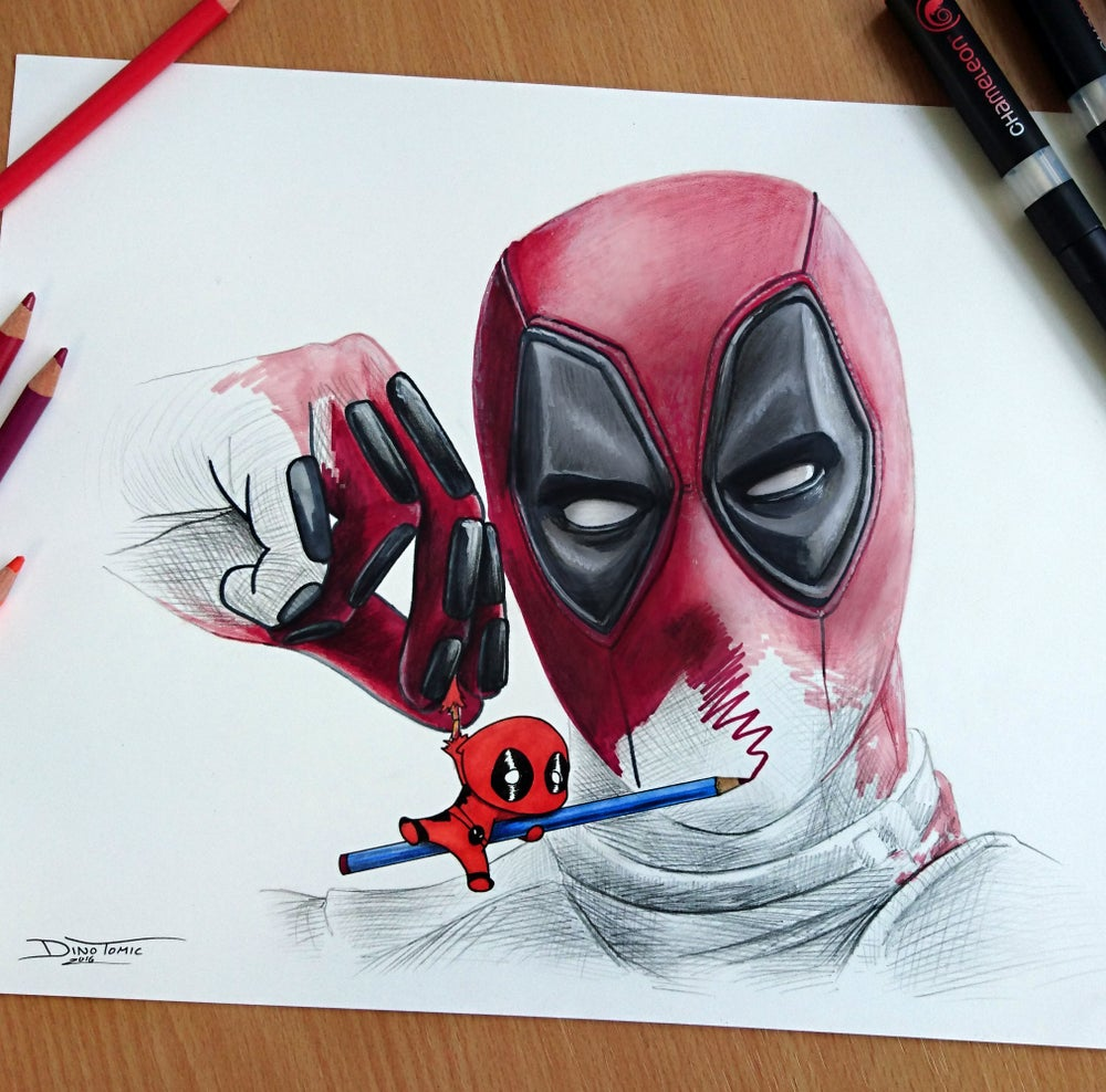 Image of #127 Deadpool drawing Deadpool