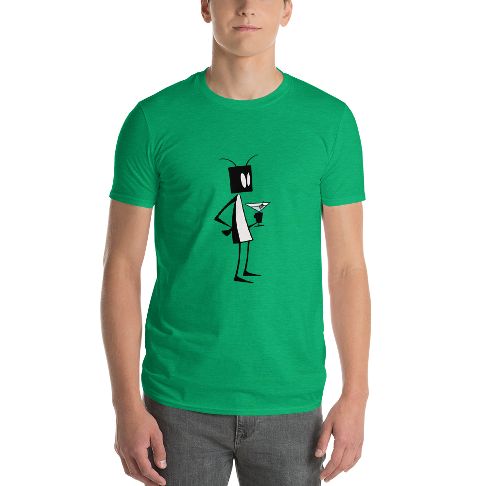 Image of Mens Bug Martini t-shirt (green)