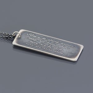 Image of Sterling Silver Strong Women Quote Necklace