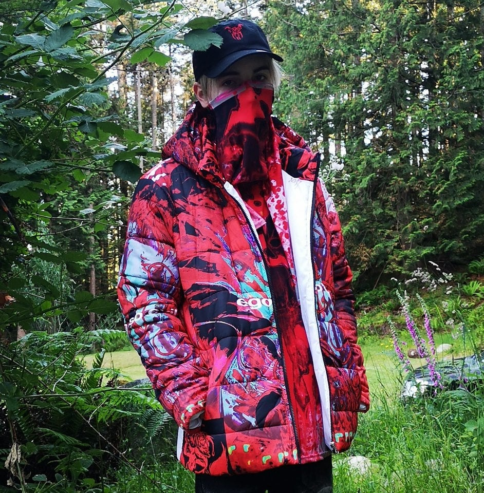 Image of so evil bloody puffy jacket (custom made)