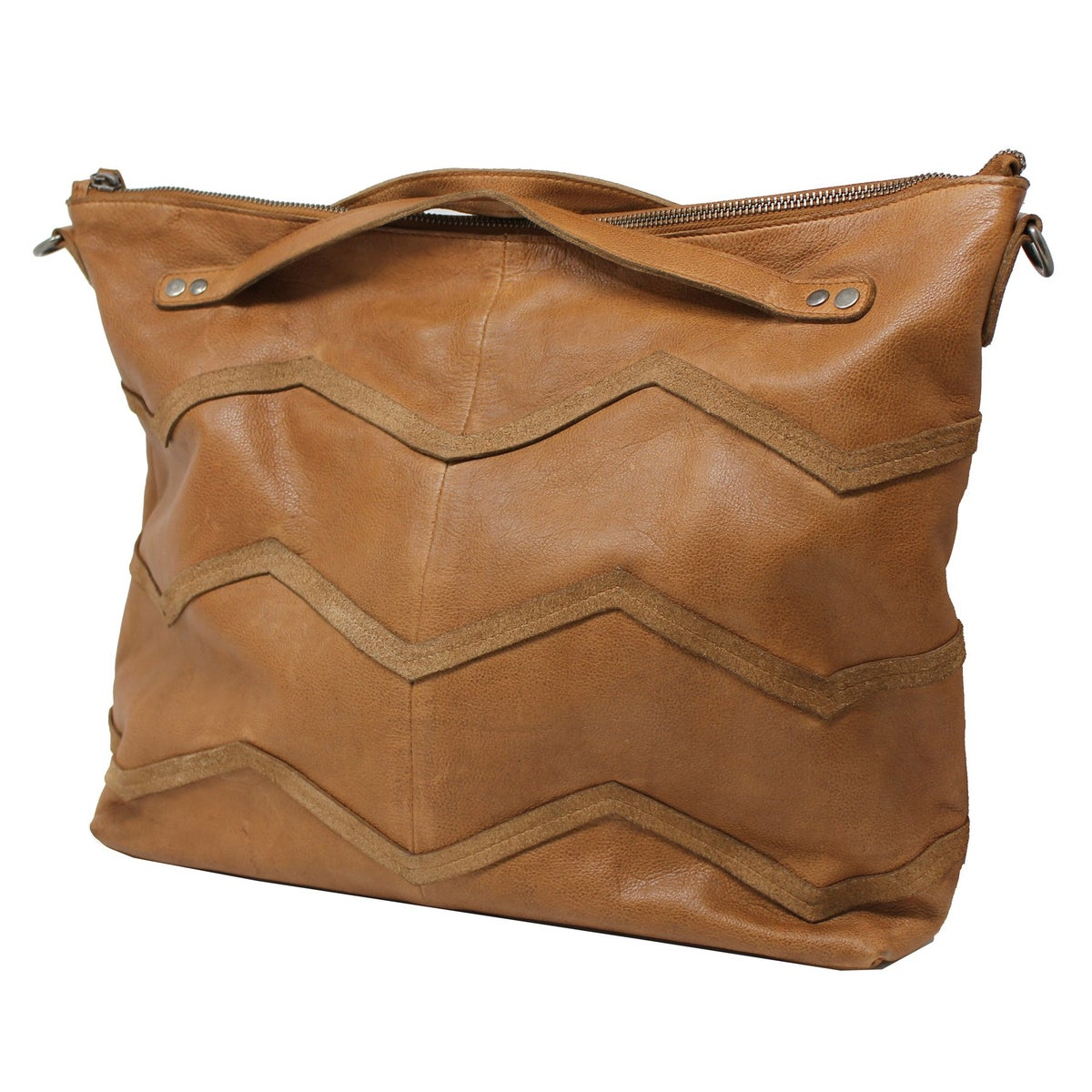 Image of Hope Leather Tote - Cognac