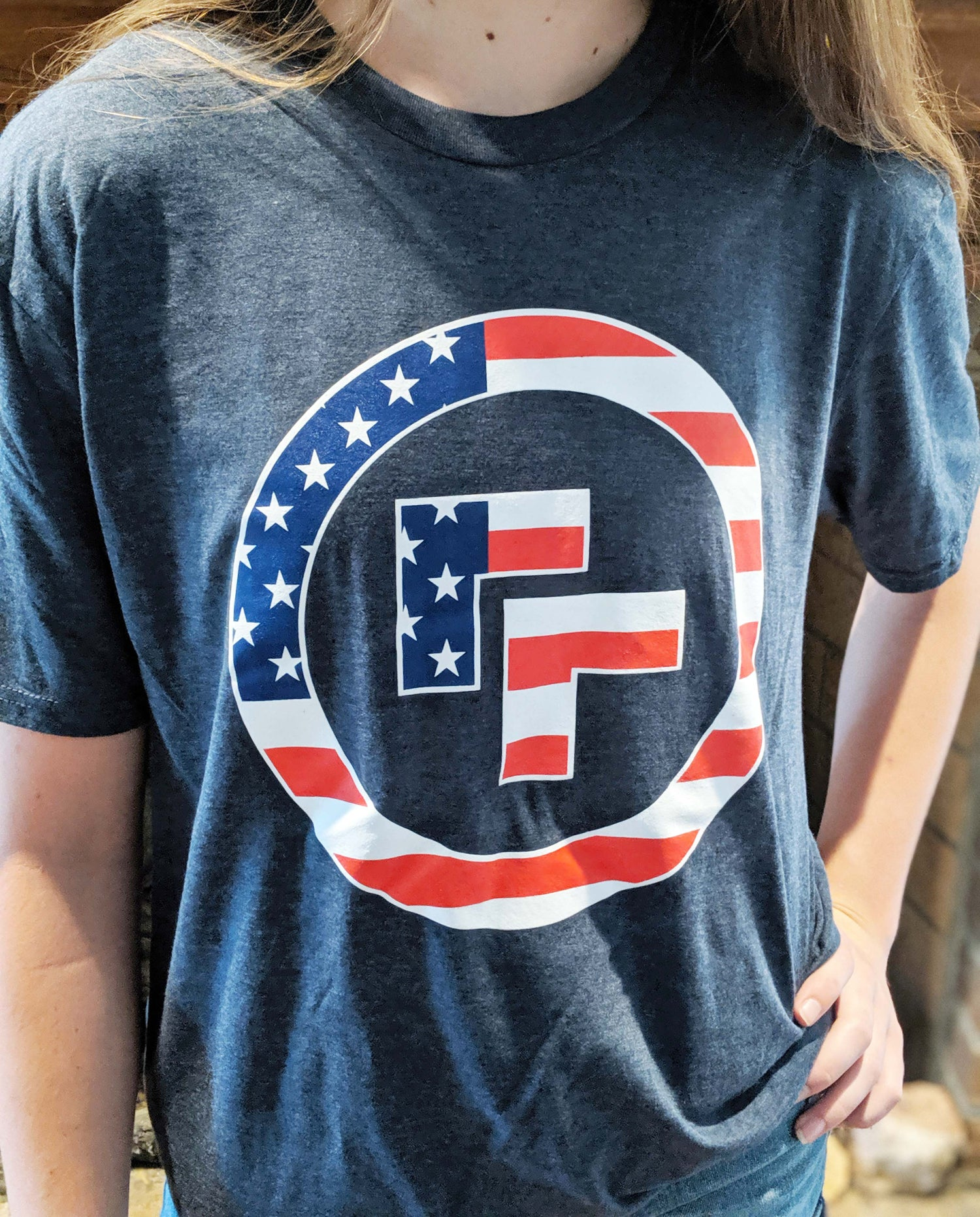 Image of Patriotic Logo T-Shirt