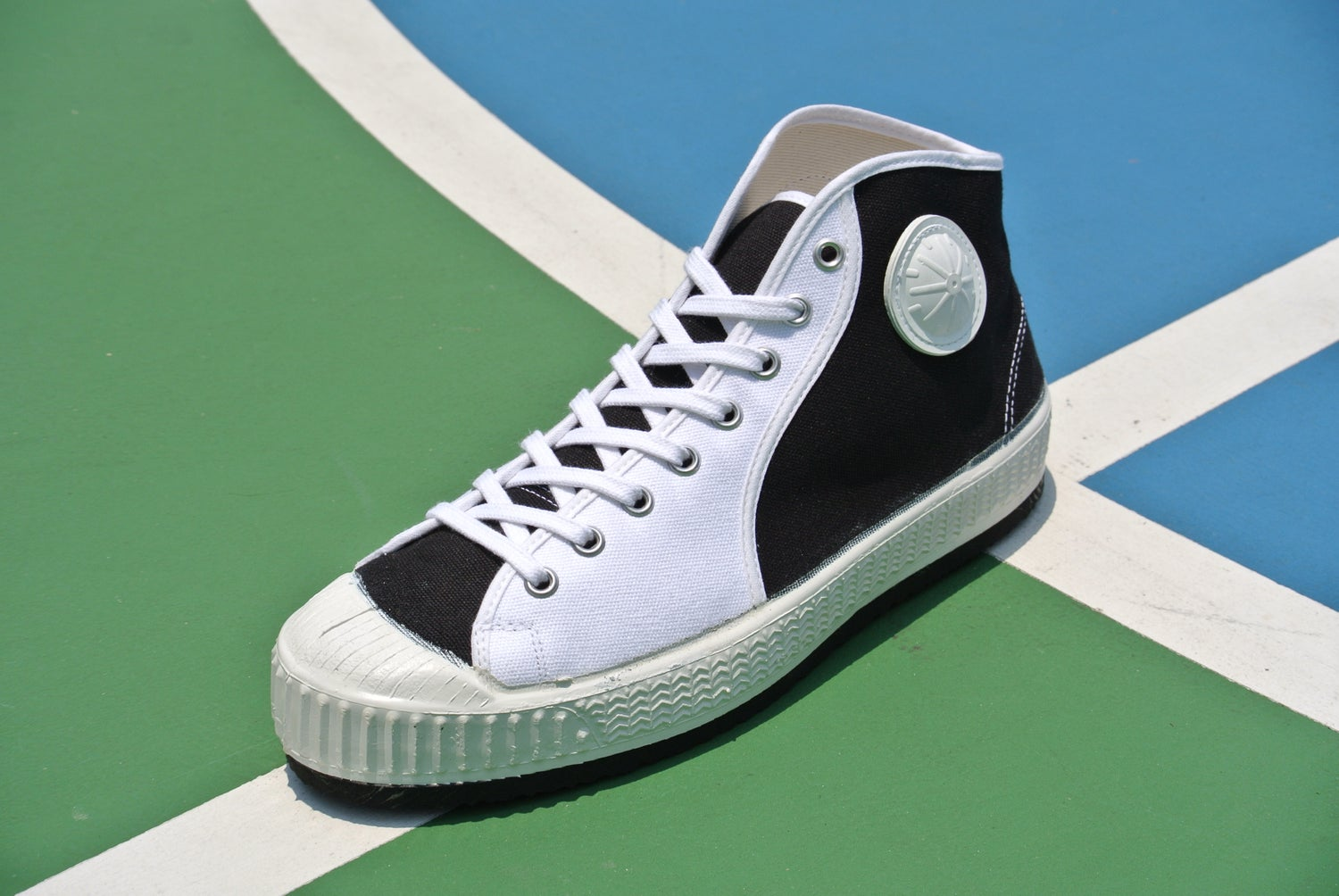Image of VEGANCRAFT Czech vintage mid top trainer sneaker shoes made in Slovakia