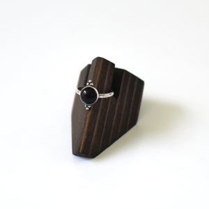 Image of Black Onyx Beaded Sterling Silver Ring