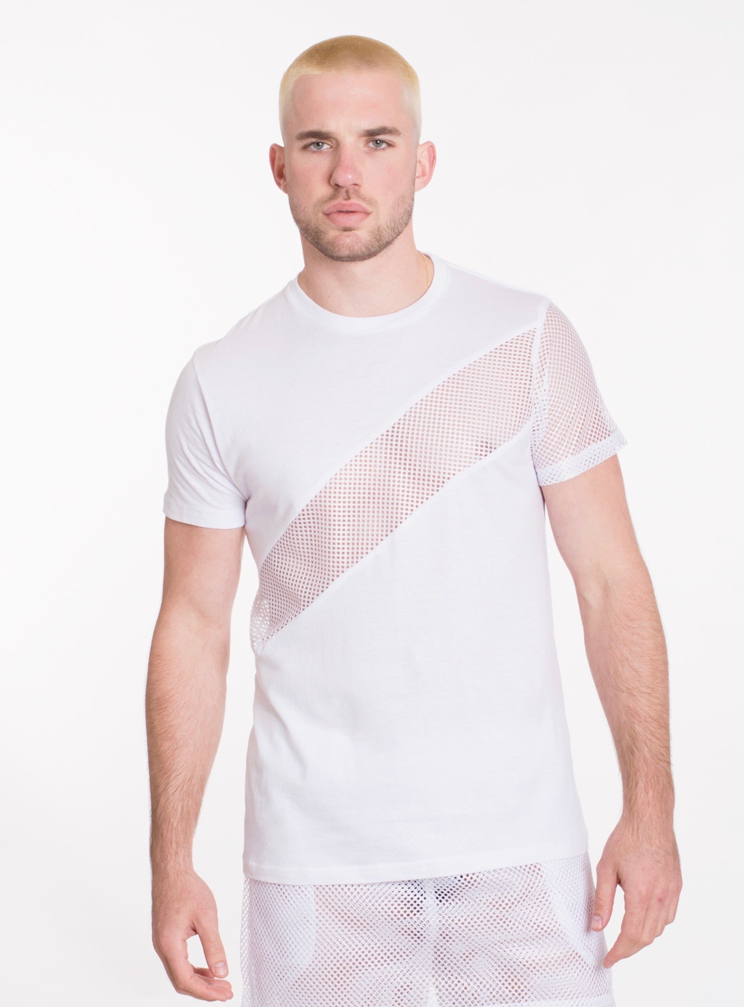 Image of ANGLE TEE - WHITE