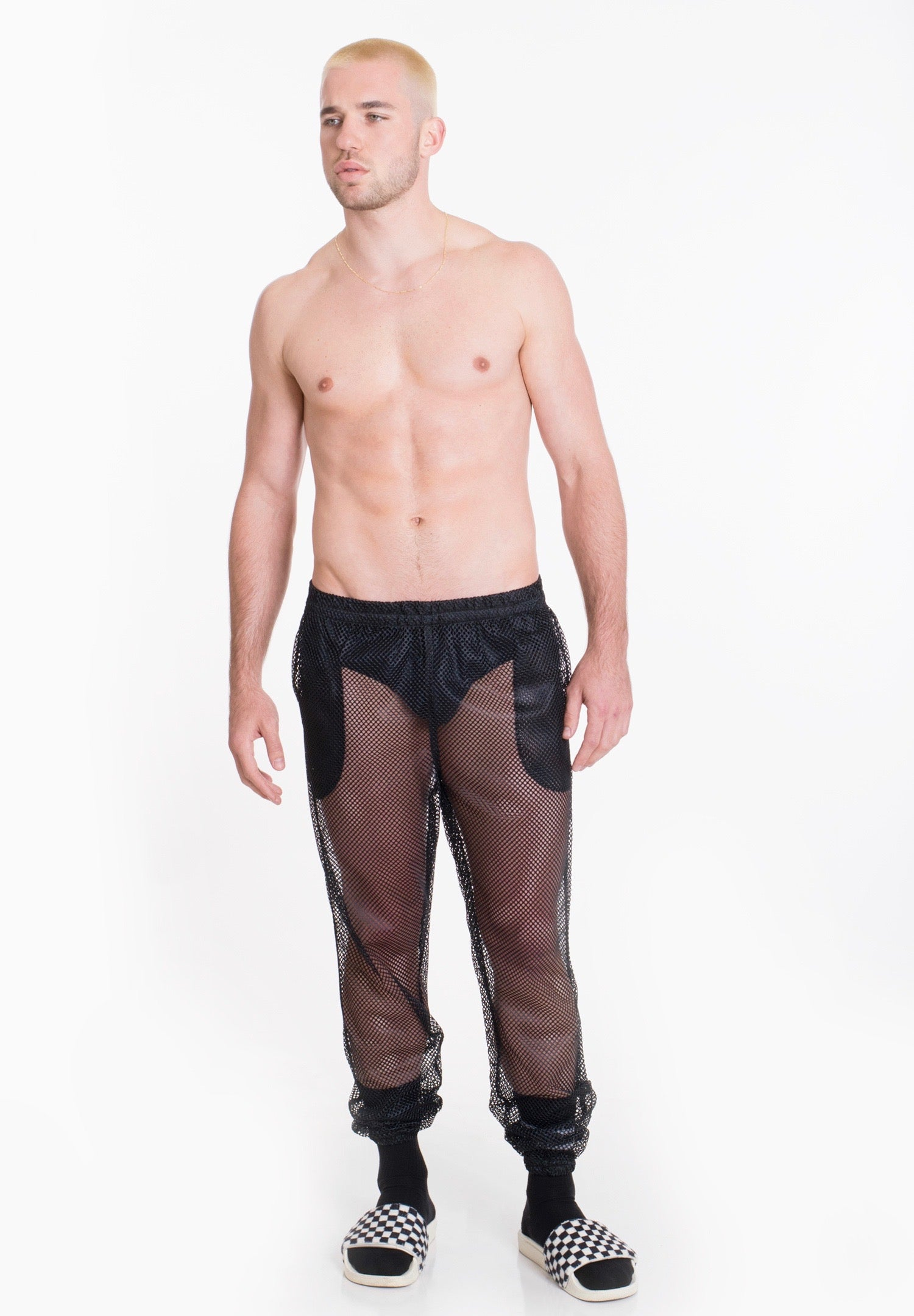 Image of MESH PANT. BLACK
