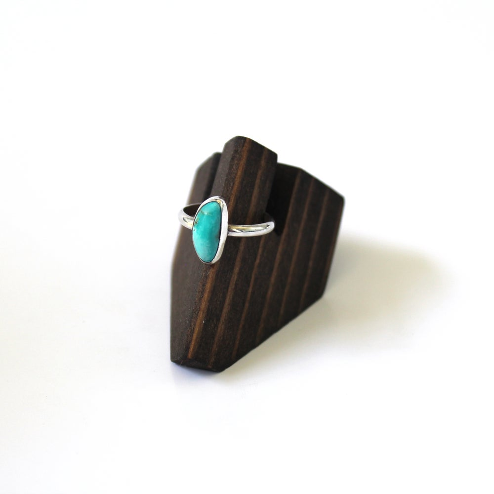 Turquoise Sterling Silver Ring - Size 7.5