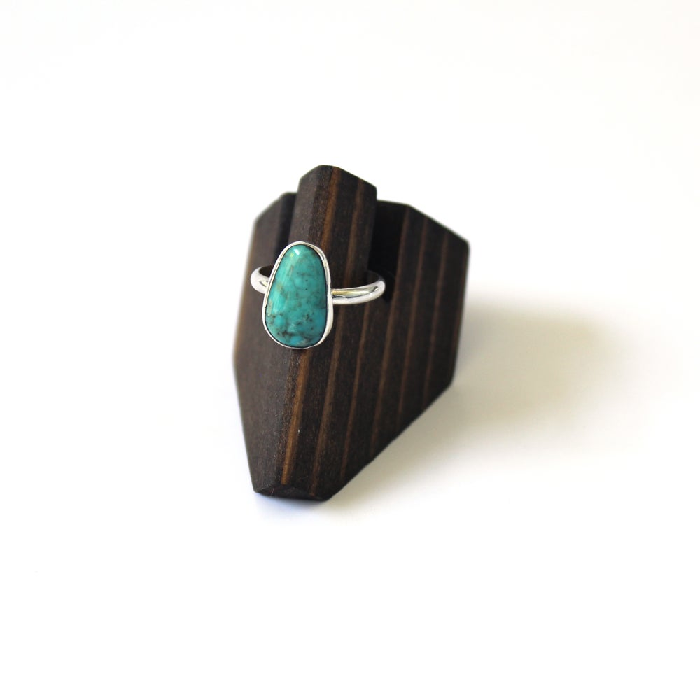Turquoise Sterling Silver Ring - Size 7