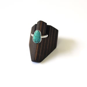 Image of Turquoise Sterling Silver Ring - Size 7