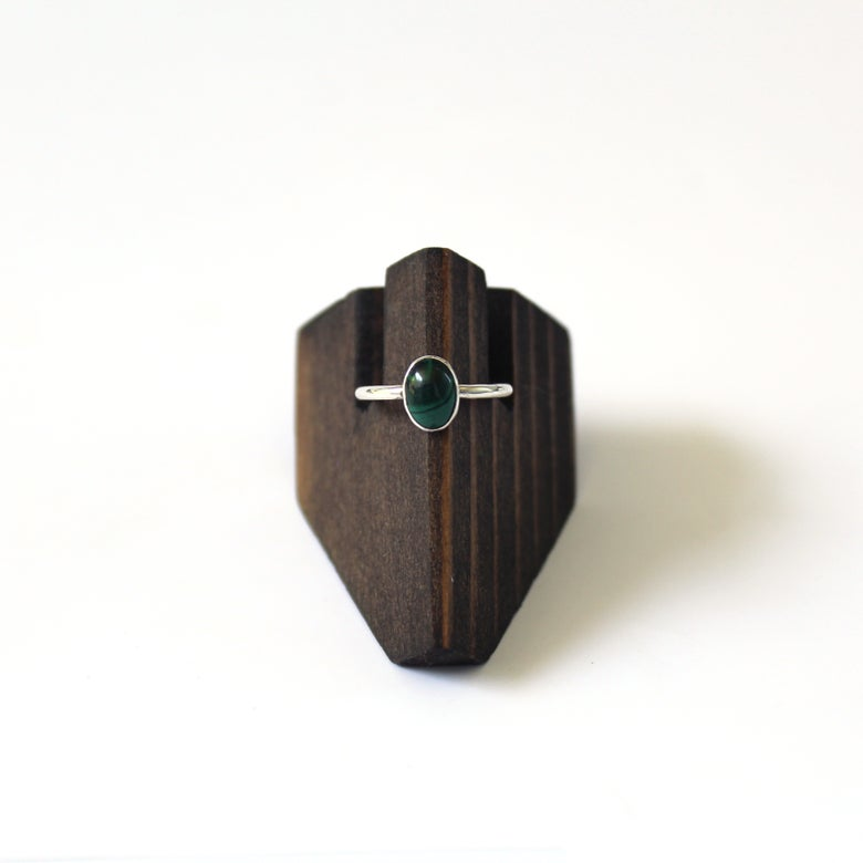 Image of Malachite Sterling Silver Ring