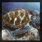 Image of Print - Behold the turtle of enormous girth 18x18