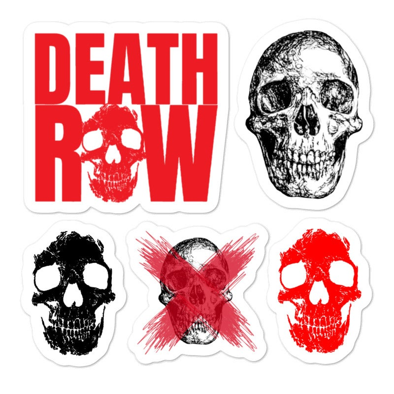 Image of Death Row Sticker Sheet