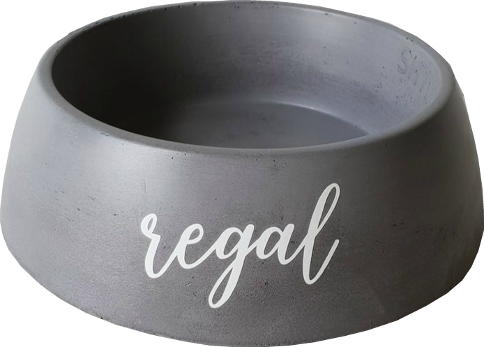 Image of Concrete Pet Bowl - Small