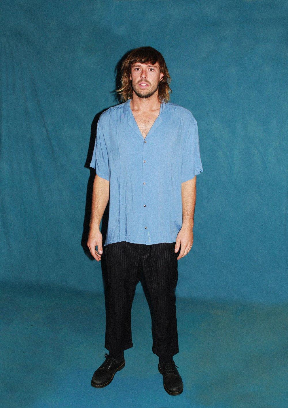 Image of Dusky Blue - Rayon shirt