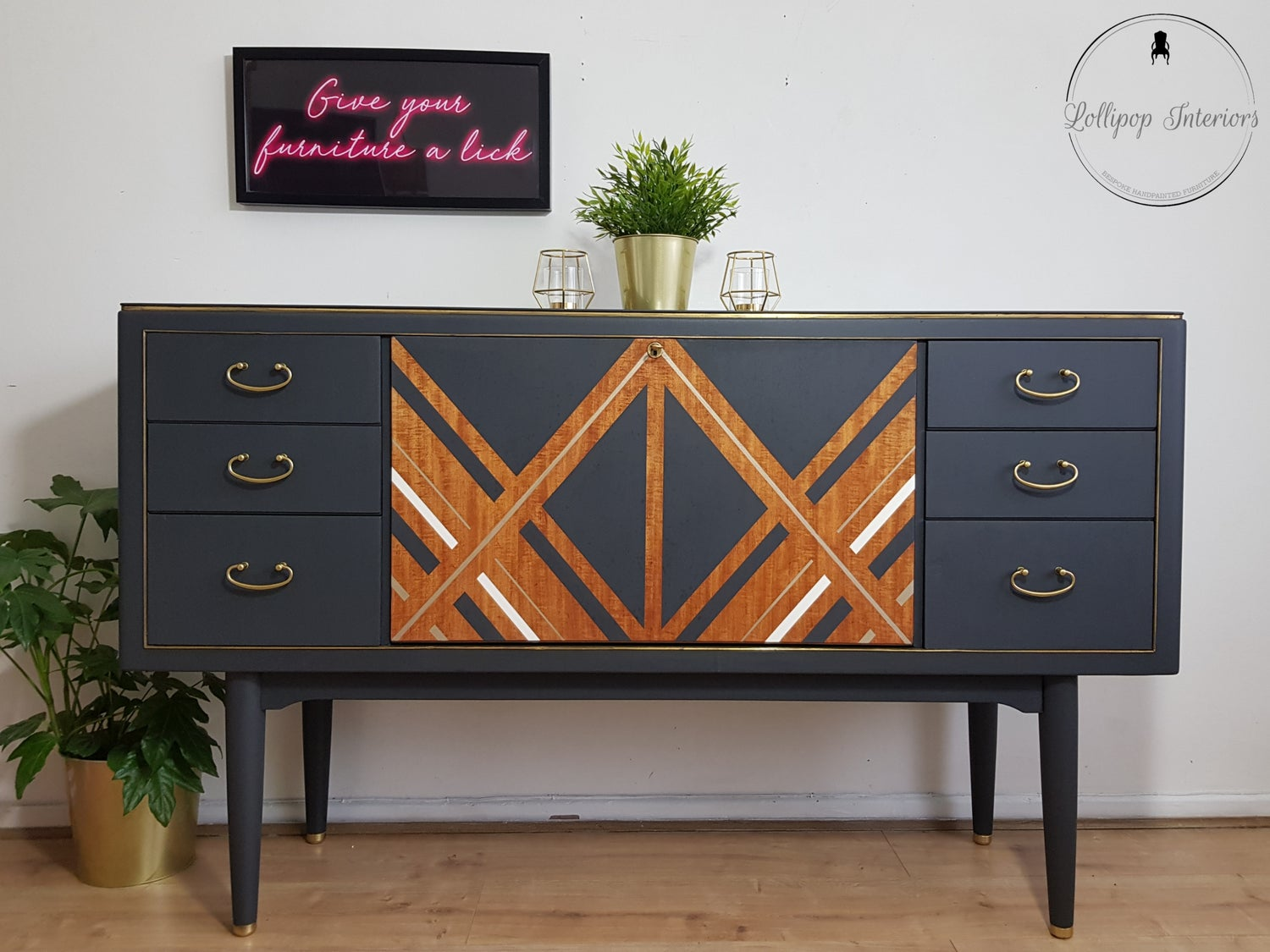 Image of Mid century modern sideboard in ash grey