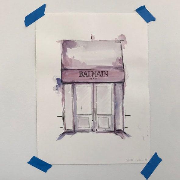 Image of Balmain Original Artwork
