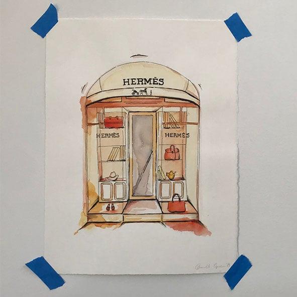 Image of Hermes Original Artwork