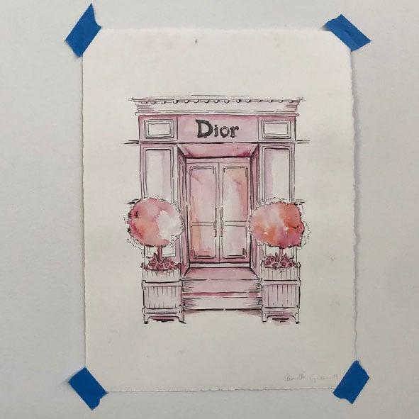 Image of Dior Original Artwork