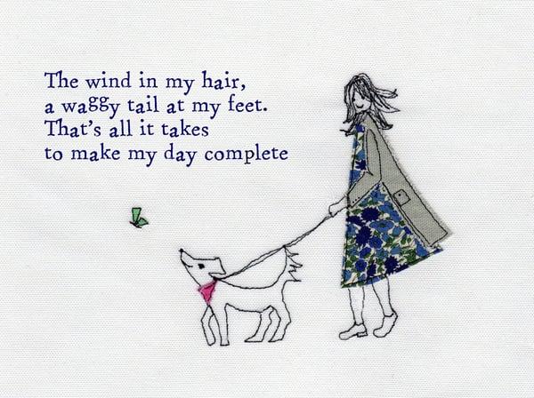 Image of Wind In My Hair poem print