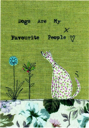 Image of  Dogs are my favourite people print