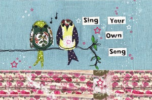 Image of Sing your own song Mounted print