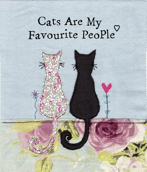 Image of Cats are my favourite people print