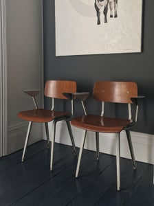 Image of Friso Kramer Plywood Revolt Chairs