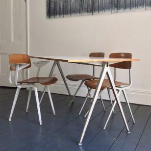 Image of Friso Kramer Plywood Revolt Chairs