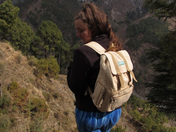 Image of Natural - Adventure Pack - Hemp Backpack | 100% Vegan | Eco Friendly | Handmade | Boho Bag | Organic