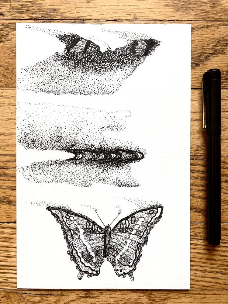 "Image of ""Metamorphosis 001"" Original Pen Drawing 5.75""x8.75"""