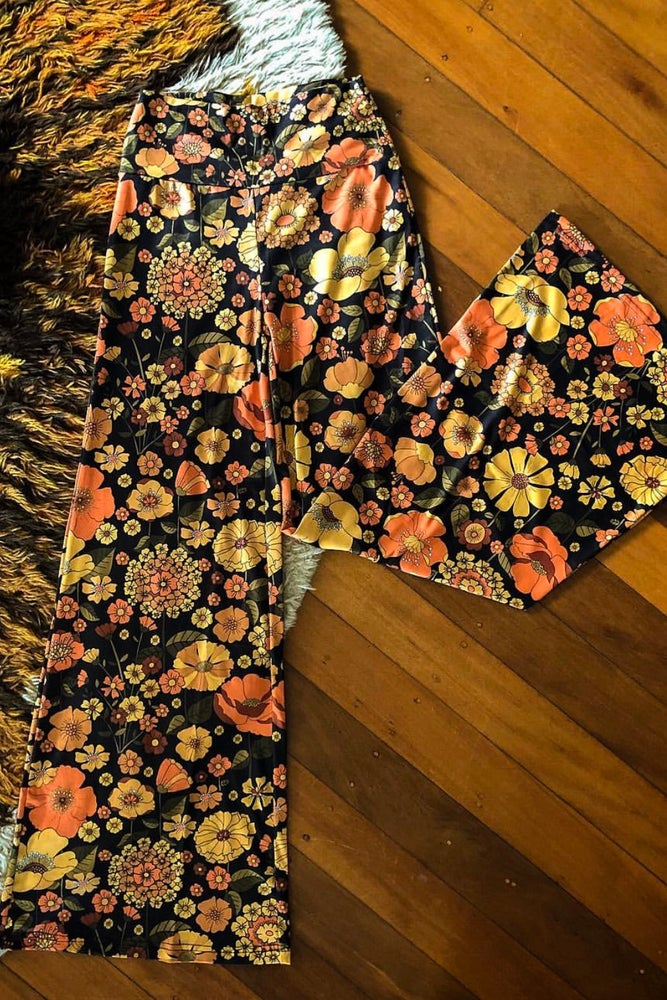 Image of Right on Flares in Bloom n Groovy Print (burnt orange)