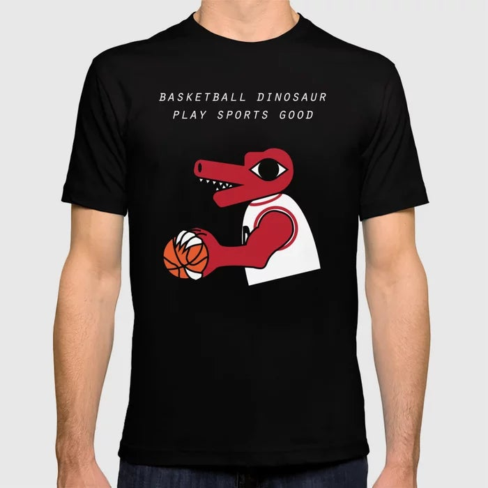 Image of Basketball Dinosaur Play Sports Good T-Shirt