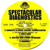 "Image of SPECTACULAR DIAGNOSTICS ""S/T"" EP (PRE-ORDER) Standard Black Vinyl"