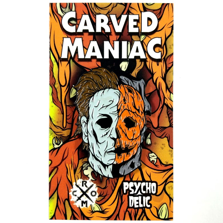 Image of Carved Maniac (Enamel Pin)