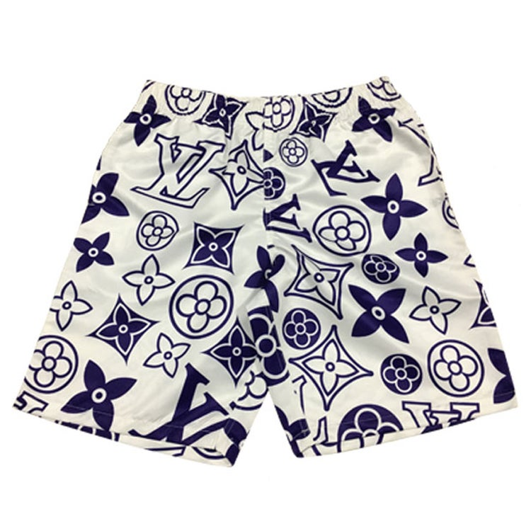 Image of FANCY SWIMMING SHORTS BLUE / WHITE